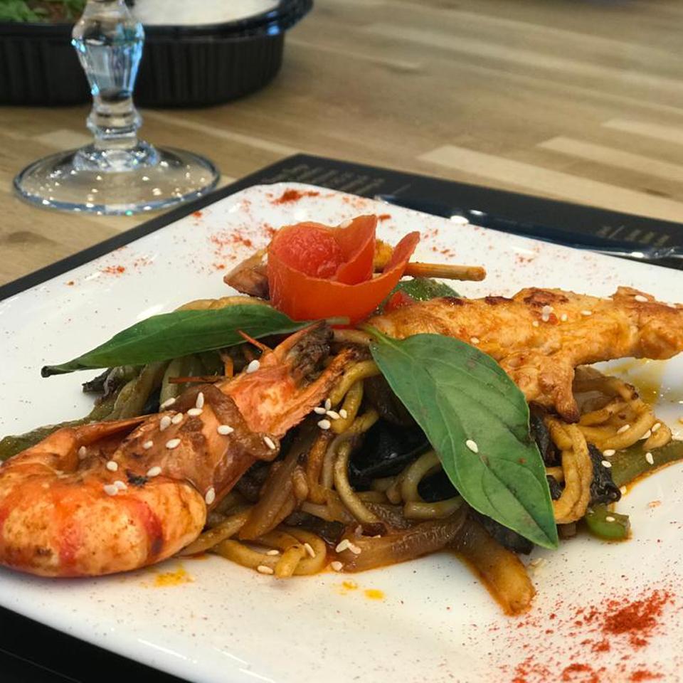 Plat au wok